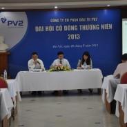 Đại hội đồng Cổ đông thường niên năm 2013 lần thứ II  của Công ty Cổ phần Đầu tư PV2 được tổ chức thành công